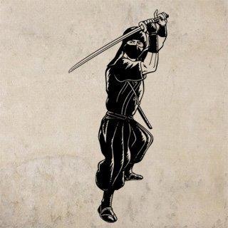 Nálepka na zeď Ninja 001 - 120x257 cm