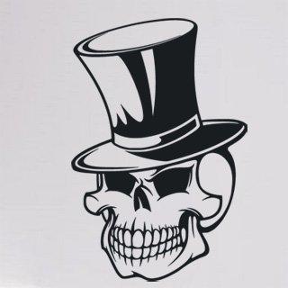 Samolepka Lebka s kloboukem 1159 - 120x180cm
