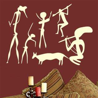 Samolepící dekorace Jeskynní lidé 001 - 140x100 cm