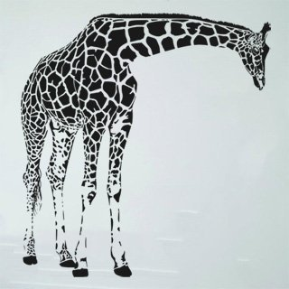Samolepka na zeď Žirafa 004 - 100x106 cm