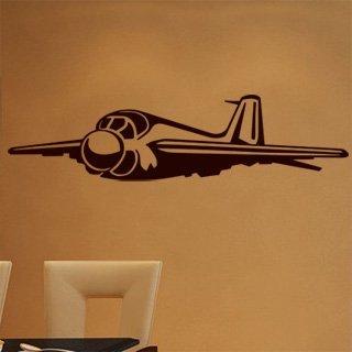 Samolepka na zeď Letadlo 009 - 120x30 cm
