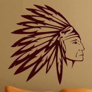 Samolepka na stěnu Indián 002 - 120x126 cm