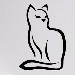 Samolepka Kočka 0484 - 80x113 cm