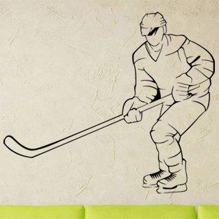 Samolepící dekorace Hokejista 0606 - 117x100 cm