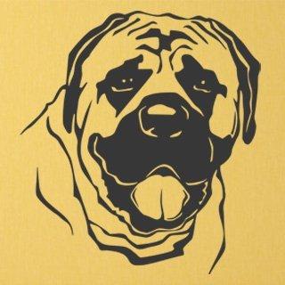 Nálepka na zeď Mastif 002 - 110x120 cm