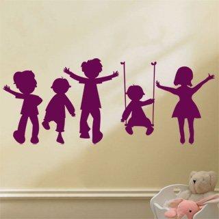 Samolepka na zeď Hravé děti 002 - 120x48 cm