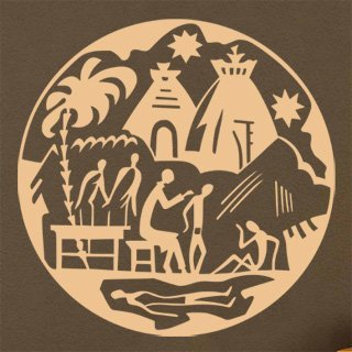 Samolepící dekorace Afričani 007 - 120x120 cm