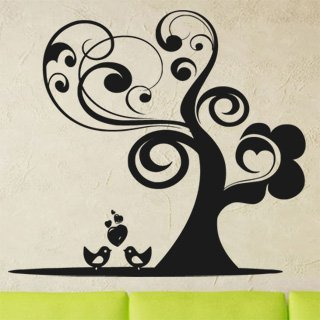 Samolepka na zeď Zamilovnaý strom 0222 - 112x100 cm