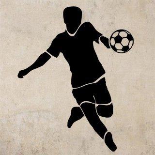 Samolepka na zeď Fotbalista 0590 - 60x76 cm