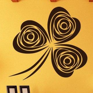 Samolepka na zeď Trojlístek 0038 - 65x60 cm