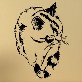 Nálepka na zeď Kočka 0427 - 100x140 cm
