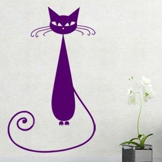 Samolepka na stěnu Kočka 005 - 120x202 cm