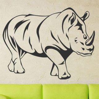 Samolepka na zeď Nosorožec 001 - 77x60 cm