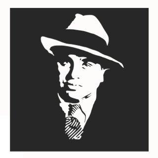 Samolepka na zeď Al Capone 001 - 60x62 cm