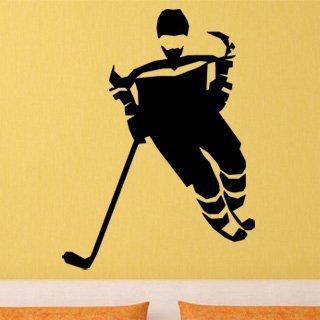 Samolepka na stěnu Hokejista 0607 - 120x163 cm