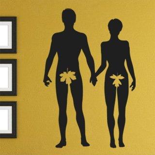 Nálepka na zeď Adam a Eva 001 - 120x182 cm