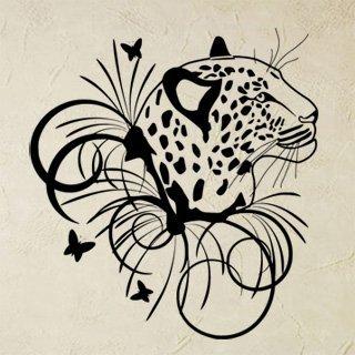 Samolepka Leopard 003 - 100x109 cm