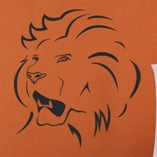 Samolepka Lev 015 - 80x88 cm