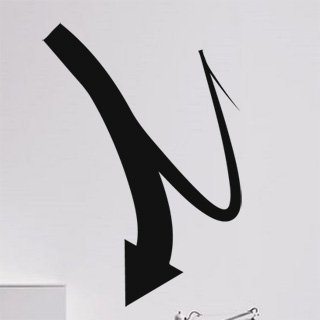 Nálepka na zeď Šipka 027 - 100x143 cm