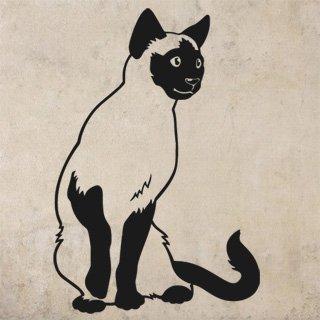 Samolepka Kočka siamská 0450 - 82x120 cm
