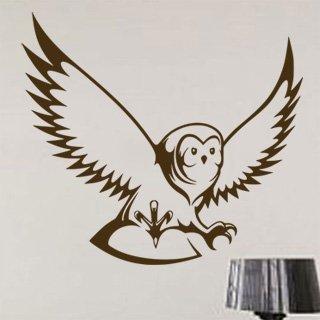 Samolepka na zeď Sova 002 - 67x60 cm