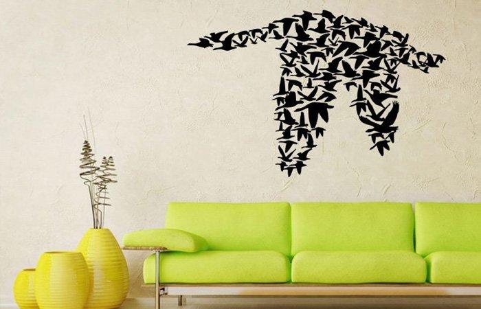 Proleťte se s krásnými ptáčky na stěnu …