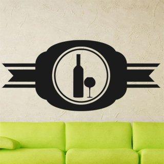 Samolepka na stěnu Lahev vína 0080 - 266x120 cm