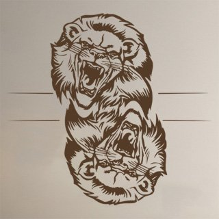Samolepka Lev 014 - 86x80 cm