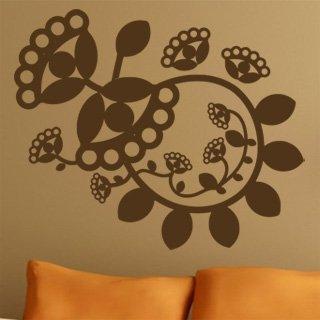Samolepka na zeď Ornamenty z rostlin 016 - 73x60 cm