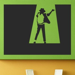 Samolepka na stěnu Michael Jackson 004 - 162x120 cm