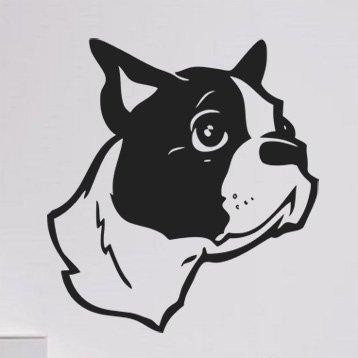 Samolepka Bostonský teriér 004 - 80x87 cm