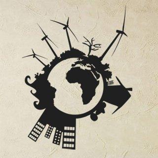 Nálepka na zeď Svět 004 - 100x130 cm
