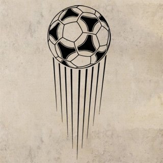 Samolepka na zeď Fotbalový míč 008 - 49x120 cm