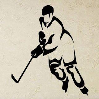 Samolepka na zeď Hokejista 0594 - 60x72 cm