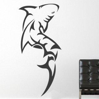 Samolepka na stěnu Žralok 009 - 120x259 cm