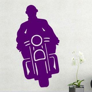 Samolepka na stěnu Motorka 018 - 120x227 cm