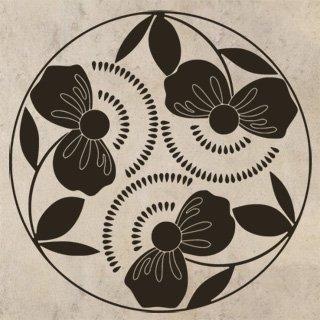 Samolepící dekorace Poupata 001 - 120x120 cm