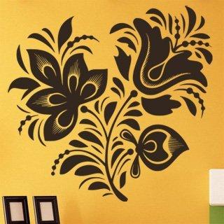 Samolepící dekorace Ornamenty z rostlin 018 - 120x115 cm