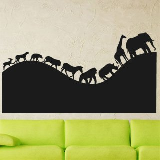Nálepka na zeď Africká zvířata 002 - 233x120 cm