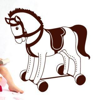 Samolepka na zeď Houpací kůň 001 - 60x60 cm