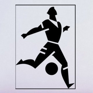 Samolepka Fotbalista 010 - 80x112 cm