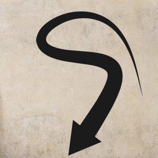 Samolepka na stěnu Šipka 026 - 120x163 cm