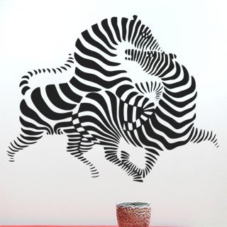 Samolepka na zeď Zebra 010 - 100x80 cm