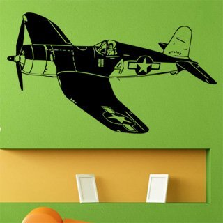 Samolepka na zeď Letadlo 014 - 120x69 cm