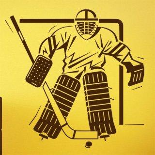 Nálepka na zeď Hokejista 004 - 120x120 cm