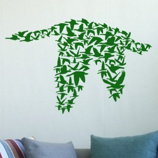 Samolepka na zeď Ptáci 002 - 120x78 cm