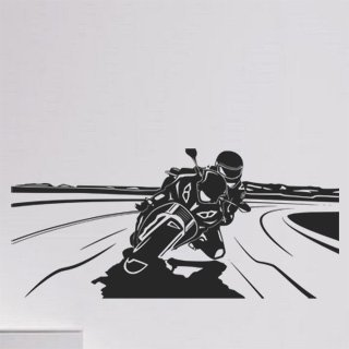 Samolepka na stěnu Motorka 019 - 267x120 cm