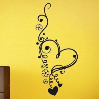 Nálepka na zeď Srdce 0246 - 100x222 cm