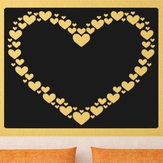 Samolepící dekorace Srdce 0247 - 120x95 cm