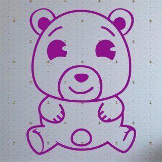 Samolepka na zeď Medvídek 001 - 60x80 cm